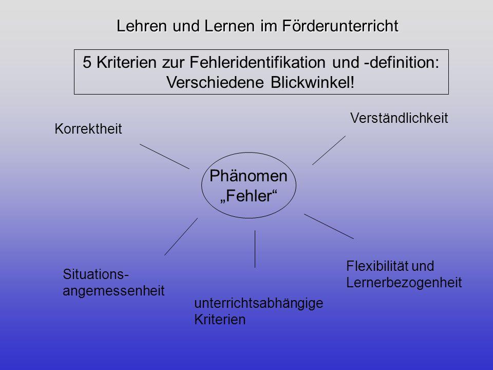 Lehren und Lernen im Förderunterricht Aus dem Blickwinkel der Korrektheit: Deskriptive Norm Verstoß gegen das geltende Regelsystem: Ich arbeitet in Deutschland Verstoß gegen das geltende Wortbildungssystem: Ich habe bekommt