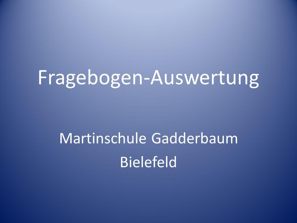 Fragebogen-Auswertung Martinschule Gadderbaum Bielefeld