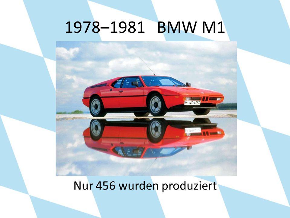 1978–1981 BMW M1 Nur 456 wurden produziert