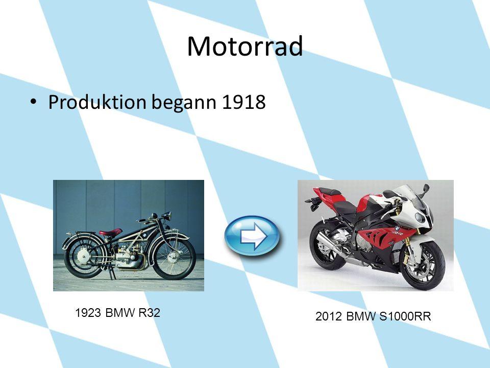 Motorrad Produktion begann 1918 1923 BMW R32 2012 BMW S1000RR