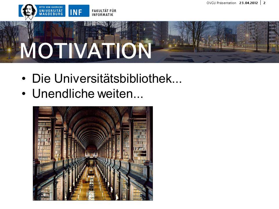 323.04.2012 OVGU Präsentation IDEE Software zum......Suchen,...Finden...und Notieren von Buch Fundorten.
