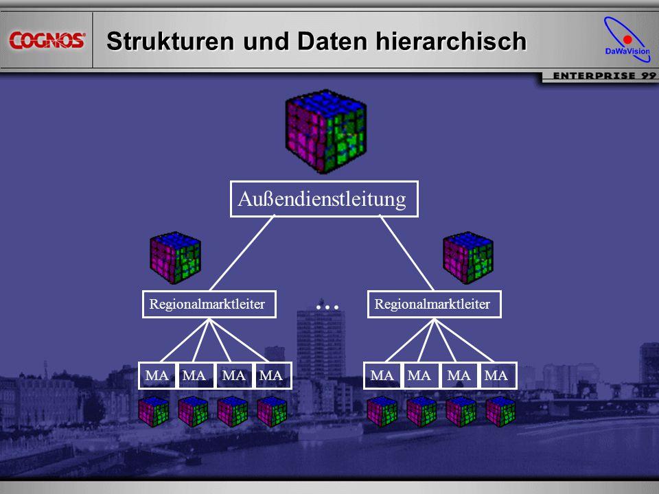 Strukturen und Daten hierarchisch Außendienstleitung Regionalmarktleiter MA...