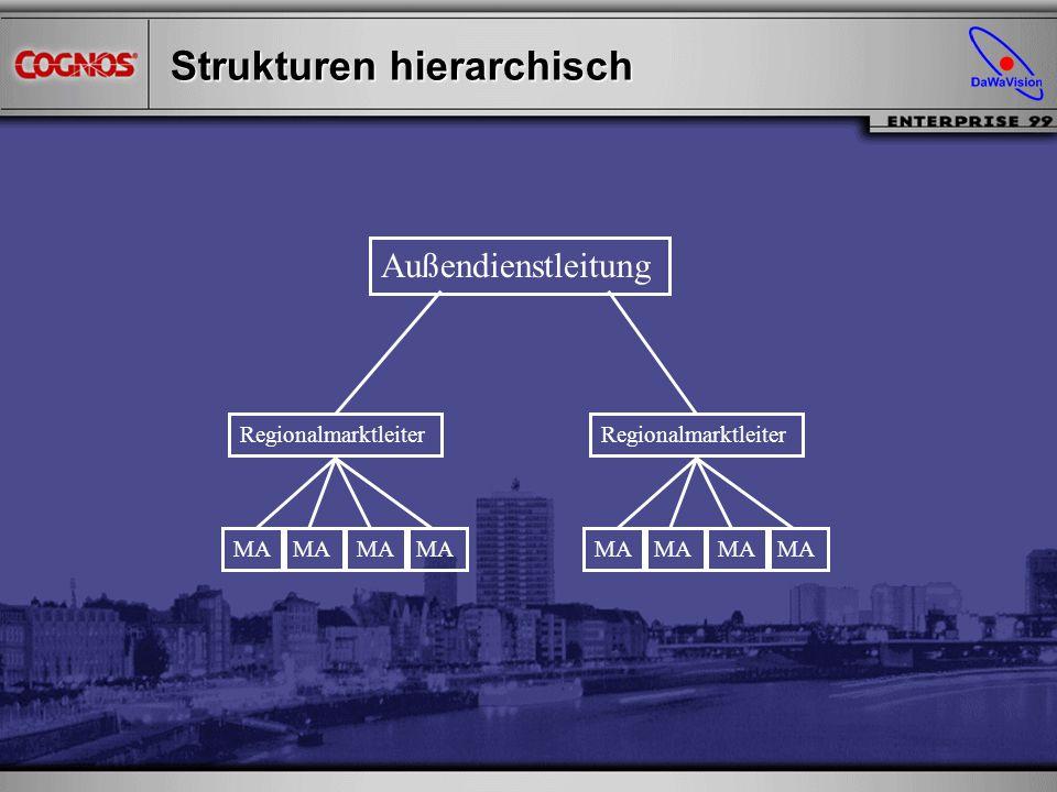 Strukturen hierarchisch Außendienstleitung Regionalmarktleiter MA