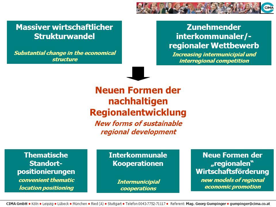 CIMA GmbH Köln Leipzig Lübeck München Ried (A) Stuttgart Telefon 0043-7752-71117 Referent: Mag. Georg Gumpinger gumpinger@cima.co.at Massiver wirtscha