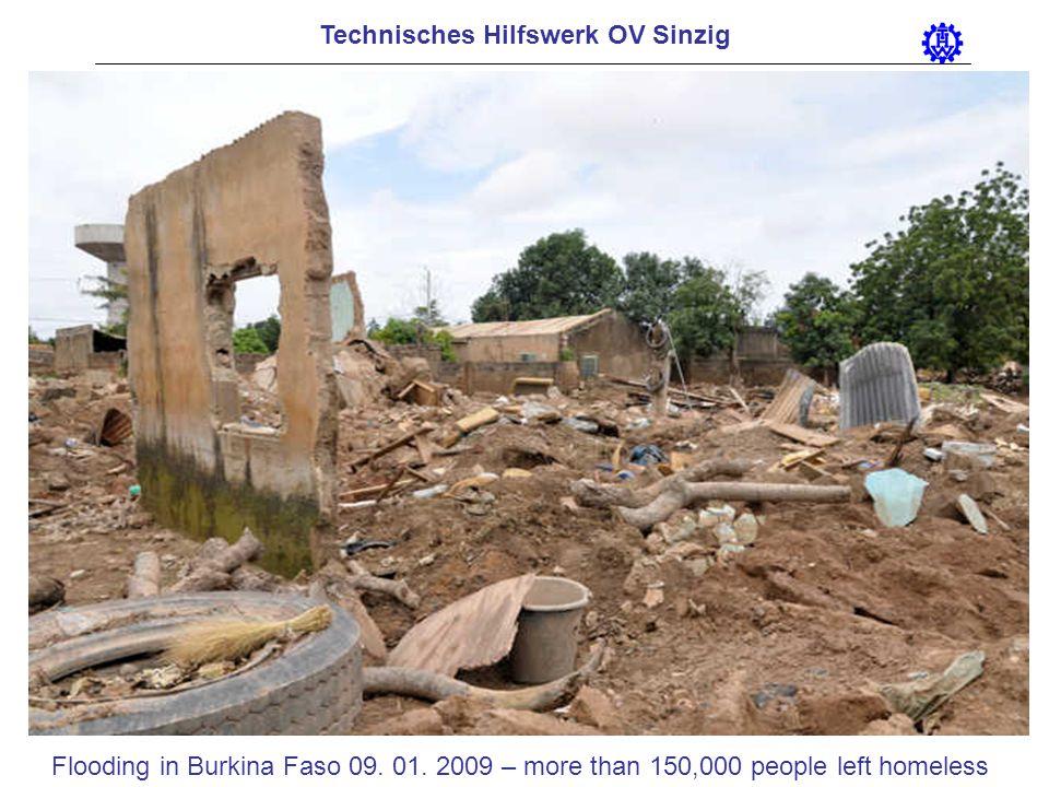 Technisches Hilfswerk OV Sinzig Flooding in Burkina Faso 09. 01. 2009 – more than 150,000 people left homeless
