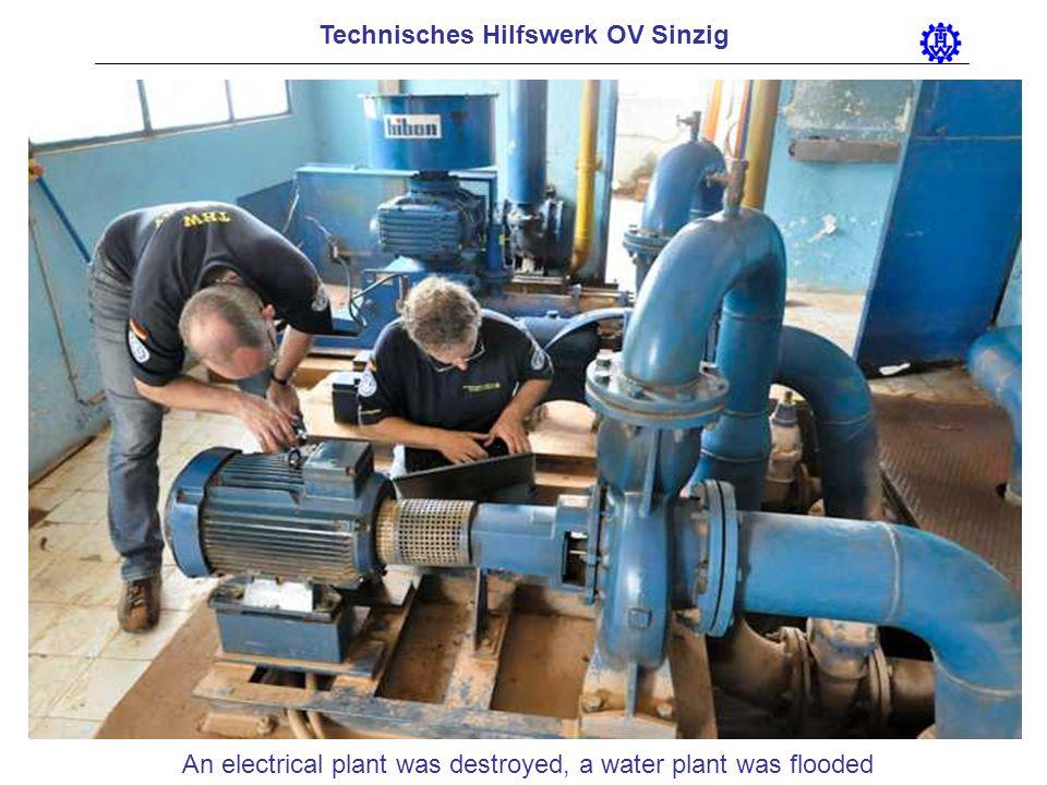 Technisches Hilfswerk OV Sinzig An electrical plant was destroyed, a water plant was flooded
