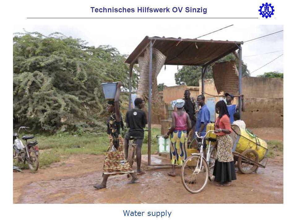 Technisches Hilfswerk OV Sinzig Water supply