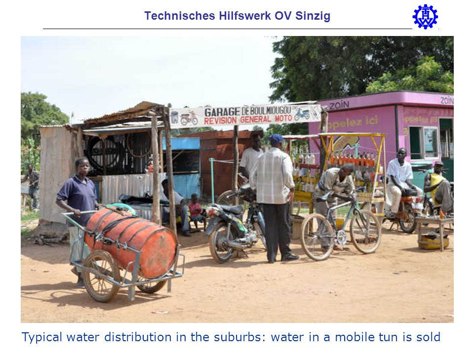 Technisches Hilfswerk OV Sinzig Typical water distribution in the suburbs: water in a mobile tun is sold