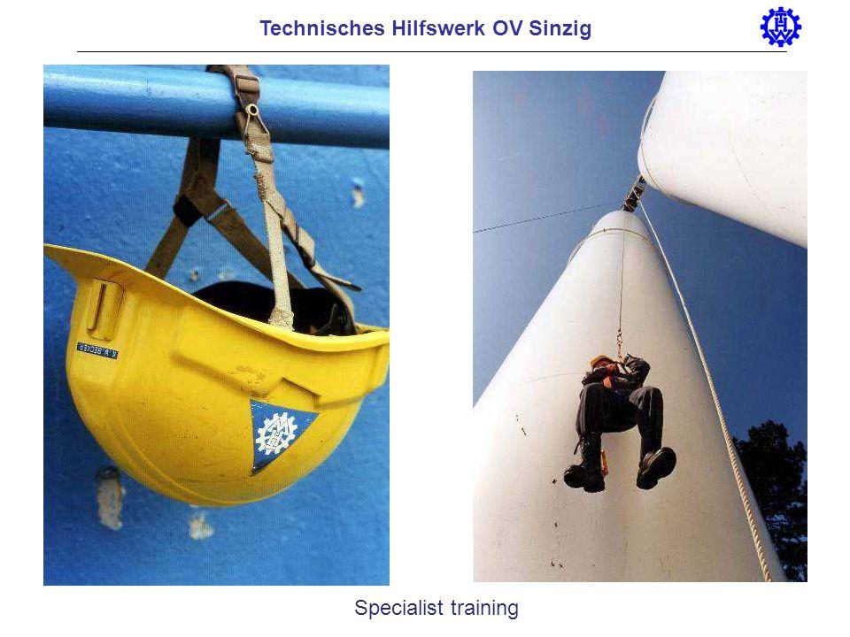 Technisches Hilfswerk OV Sinzig Specialist training