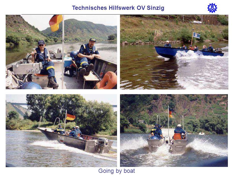 Technisches Hilfswerk OV Sinzig Going by boat