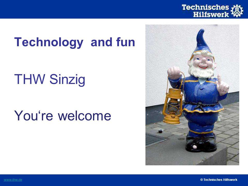 Technisches Hilfswerk OV Sinzig Fascination of THW This year THW is 61 years old.