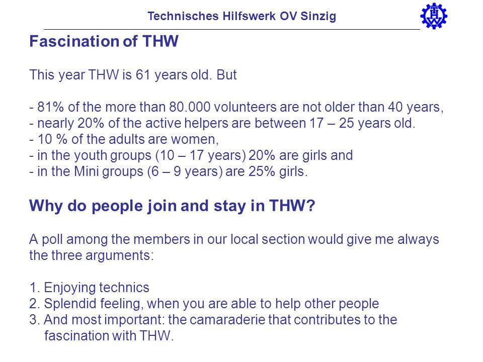 Technisches Hilfswerk OV Sinzig Organisational structure of the local section Sinzig