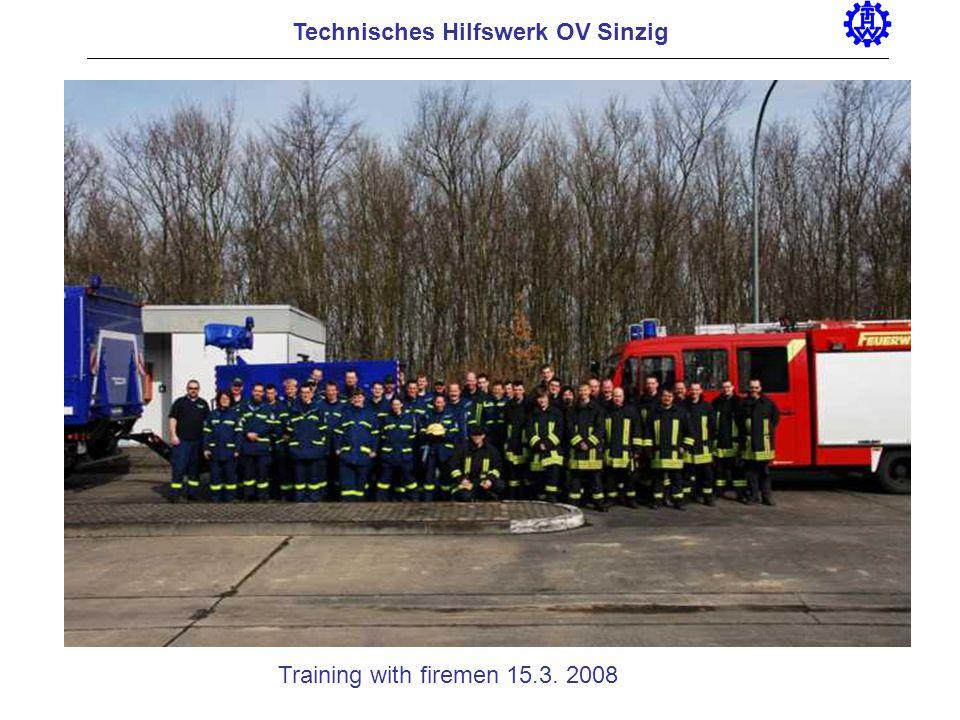 Technisches Hilfswerk OV Sinzig Training with firemen 15.3. 2008