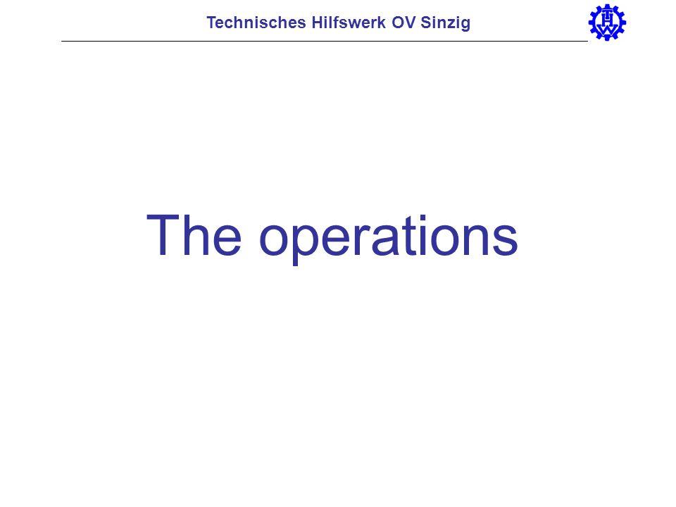 Technisches Hilfswerk OV Sinzig The operations