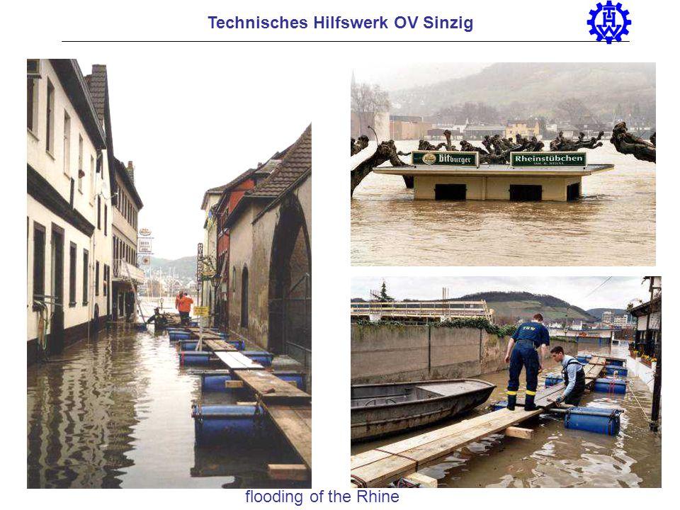 Technisches Hilfswerk OV Sinzig flooding of the Rhine