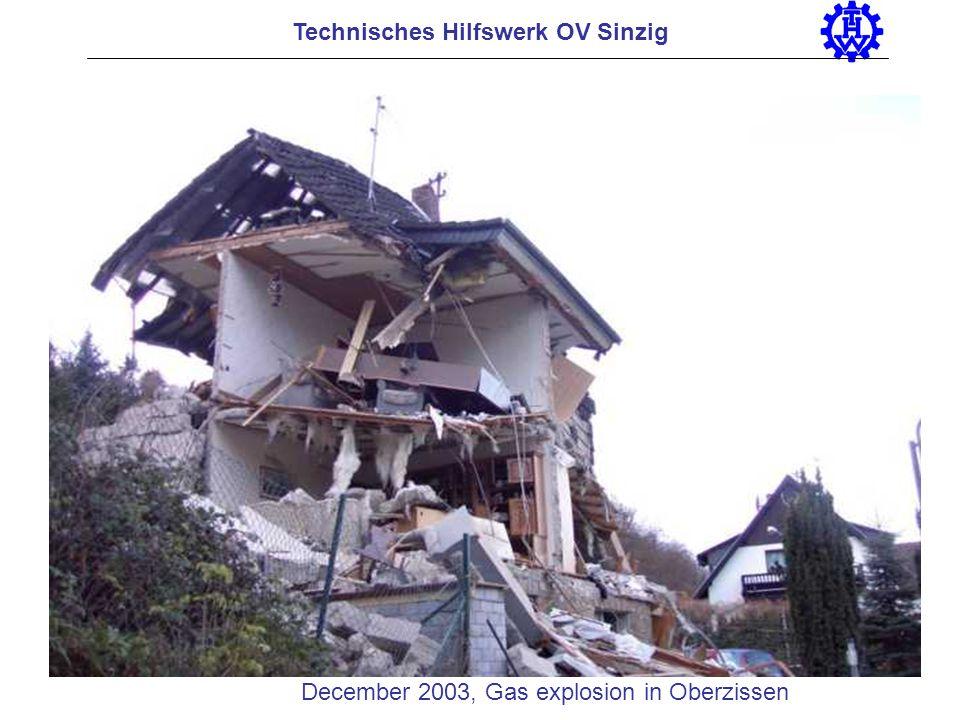 Technisches Hilfswerk OV Sinzig December 2003, Gas explosion in Oberzissen