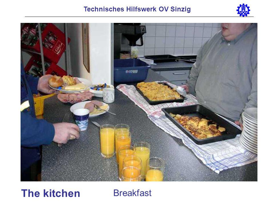 Technisches Hilfswerk OV Sinzig Transport of injured persons by means of a ladder