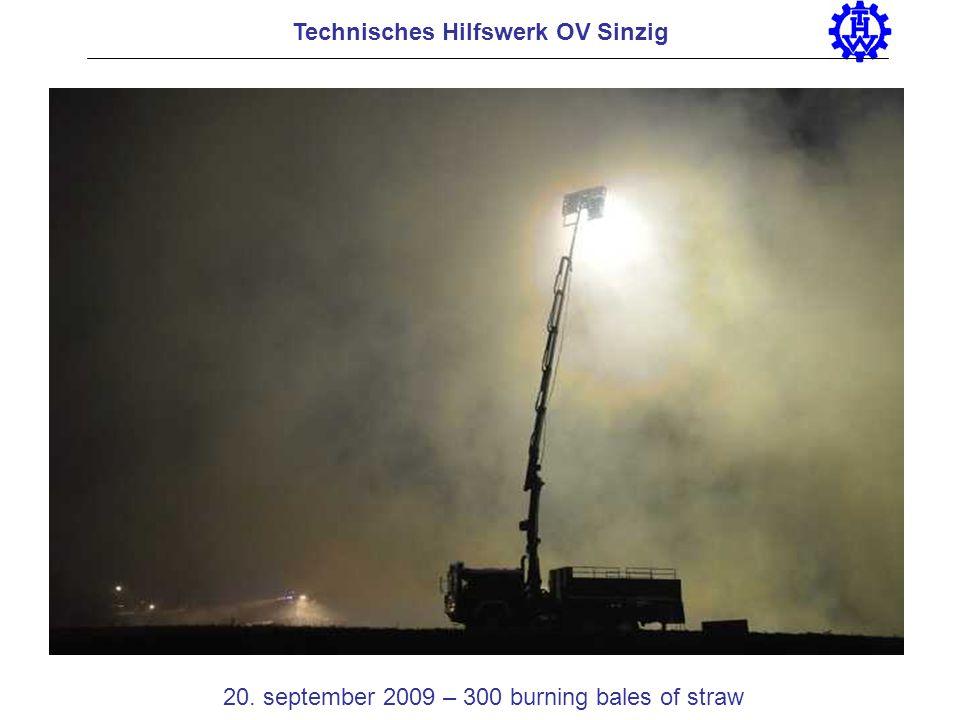 20. september 2009 – 300 burning bales of straw