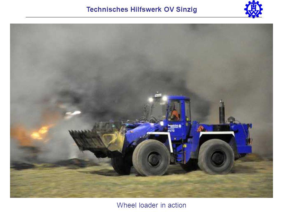 Wheel loader in action