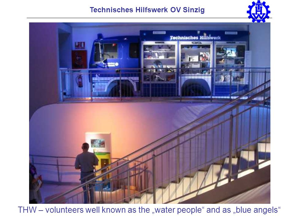 Technisches Hilfswerk OV Sinzig THW – volunteers well known as the water people and as blue angels