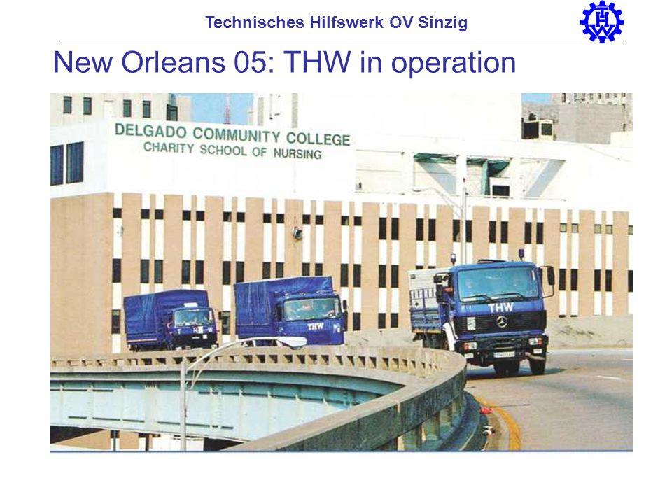 Technisches Hilfswerk OV Sinzig New Orleans 05: THW in operation