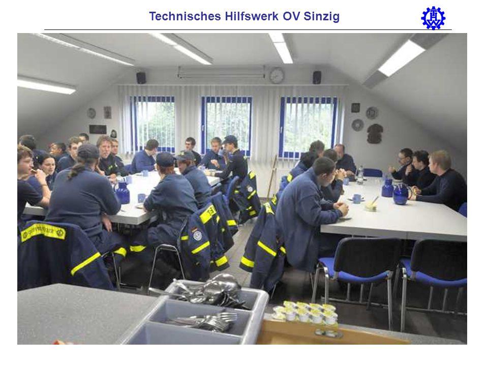 Technisches Hilfswerk OV Sinzig Burning house, 30.03. 2008, working together firefighters and THW