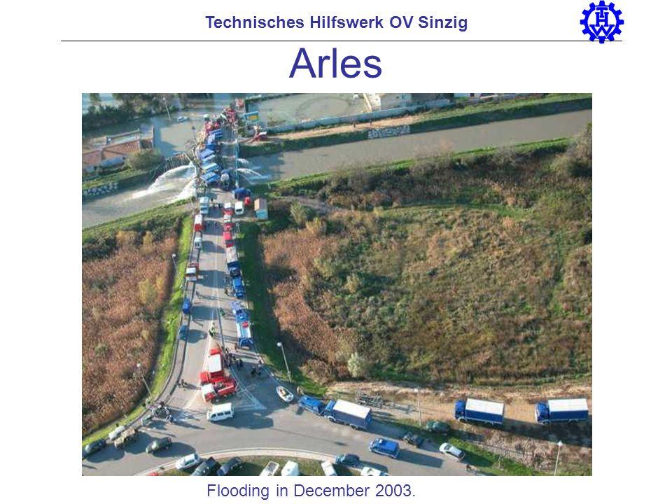 Arles Technisches Hilfswerk OV Sinzig Flooding in December 2003.