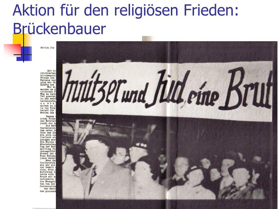 Aktion für den religiösen Frieden: Brückenbauer