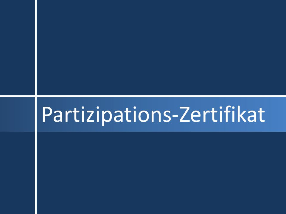 Partizipations-Zertifikat