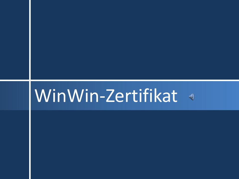 WinWin-Zertifikat
