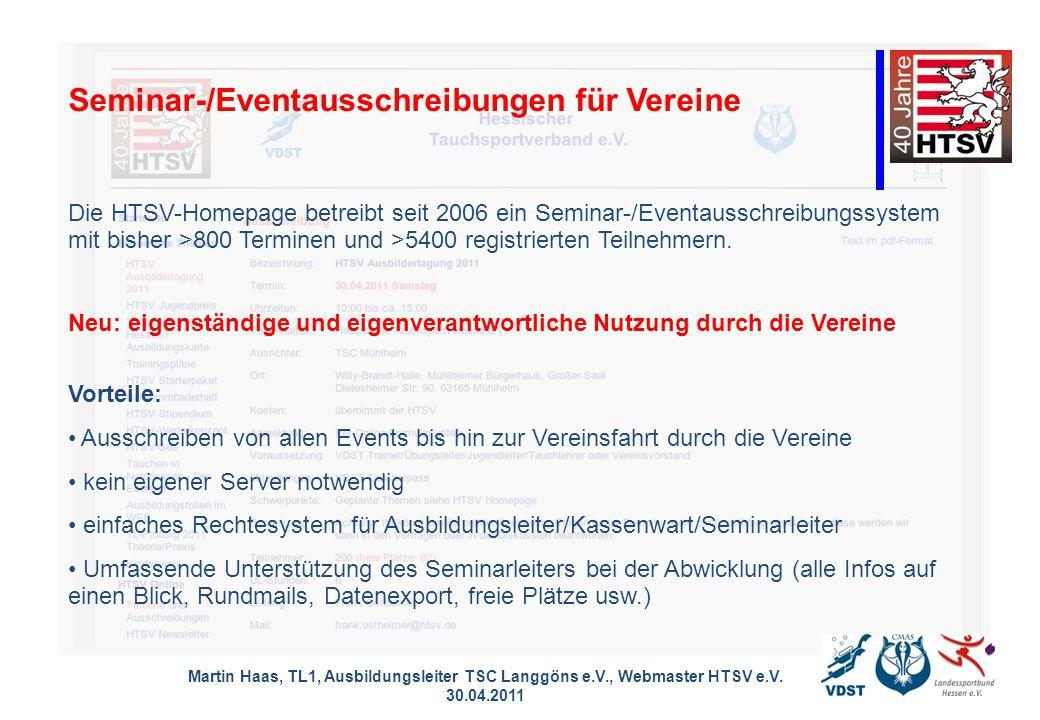 Martin Haas, TL1, Ausbildungsleiter TSC Langgöns e.V., Webmaster HTSV e.V.
