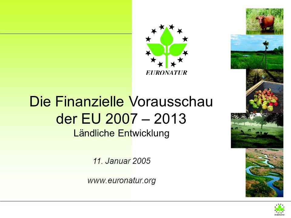 Die Finanzielle Vorausschau der EU 2007 – 2013 Ländliche Entwicklung 11. Januar 2005 www.euronatur.org
