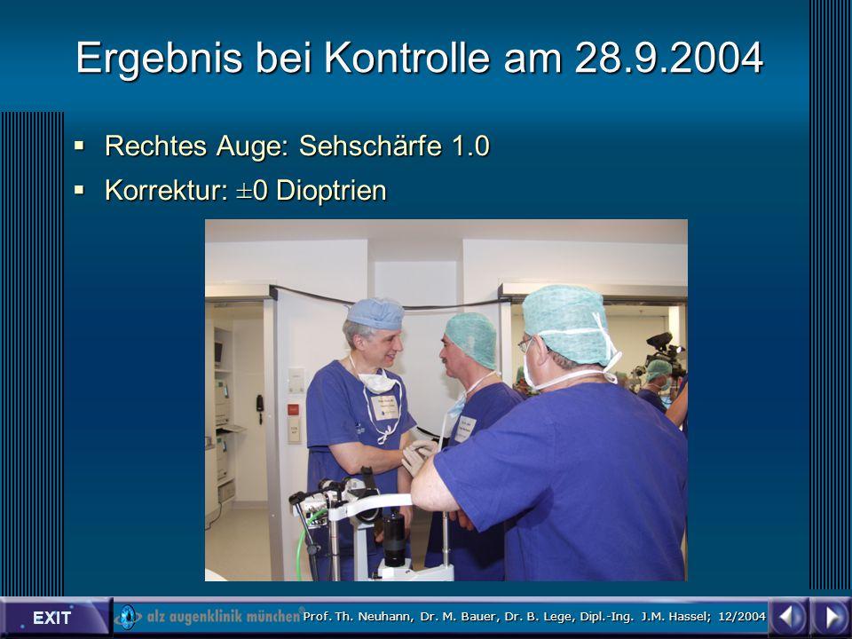 EXIT Prof. Th. Neuhann, Dr. M. Bauer, Dr. B. Lege, Dipl.-Ing.