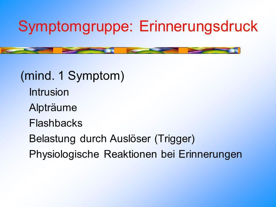 Symptomgruppe: Erinnerungsdruck (mind.