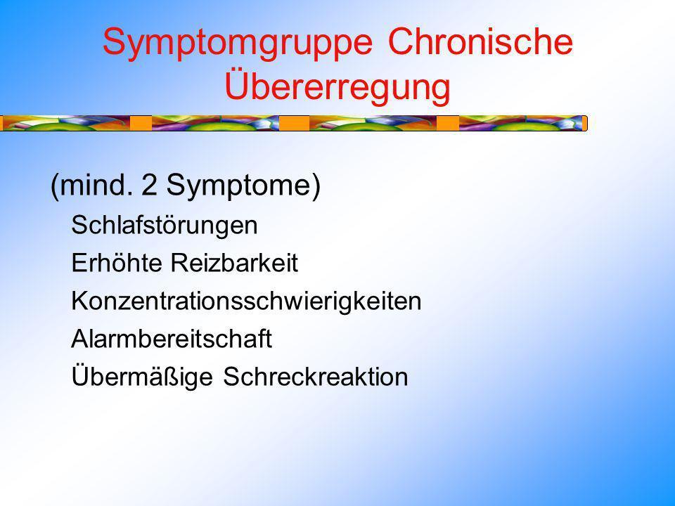 Symptomgruppe Chronische Übererregung (mind.
