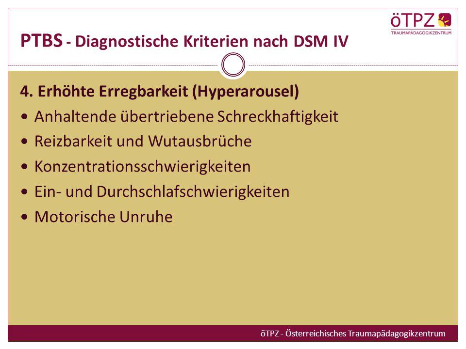 PTBS - Diagnostische Kriterien nach DSM IV 4.