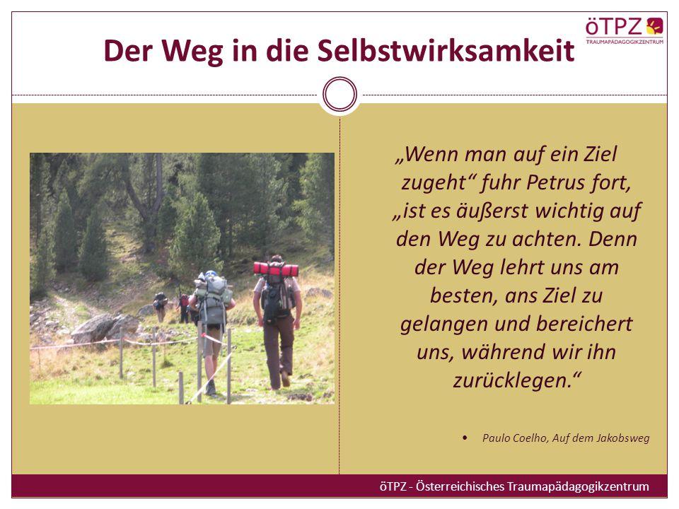 Der Weg in die Selbstwirksamkeit Wenn man auf ein Ziel zugeht fuhr Petrus fort, ist es äußerst wichtig auf den Weg zu achten. Denn der Weg lehrt uns a