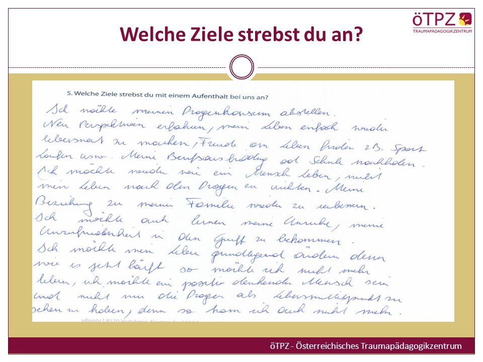 Welche Ziele strebst du an? öTPZ - Österreichisches Traumapädagogikzentrum