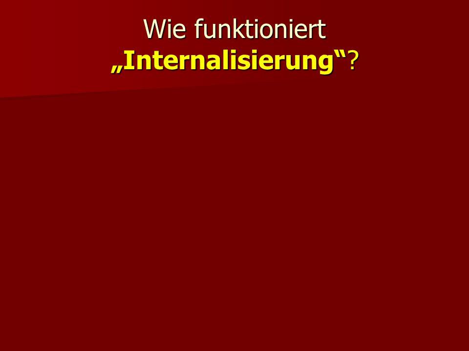 Wie funktioniert Internalisierung?