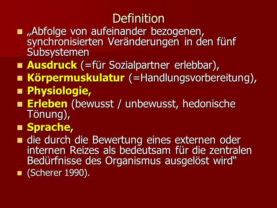 Definition Abfolge von aufeinander bezogenen, synchronisierten Veränderungen in den fünf Subsystemen Abfolge von aufeinander bezogenen, synchronisiert