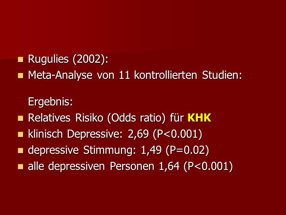 Rugulies (2002): Rugulies (2002): Meta-Analyse von 11 kontrollierten Studien: Ergebnis: Meta-Analyse von 11 kontrollierten Studien: Ergebnis: Relative