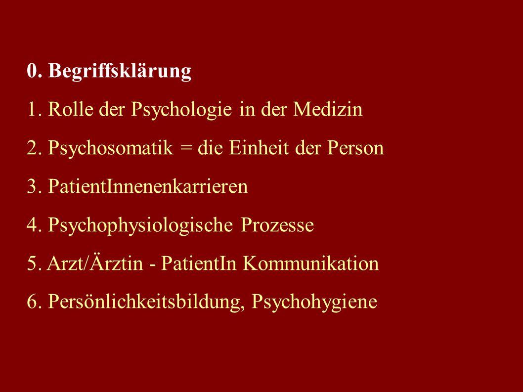 Psychologie im MCW Seit 1981 ein Prüfungsfach im zweiten Studienabschnitt Im MCW in zahlreiche Blöcke integriert: Block 1, 6, Block 8, 15, 16, 18, 19,