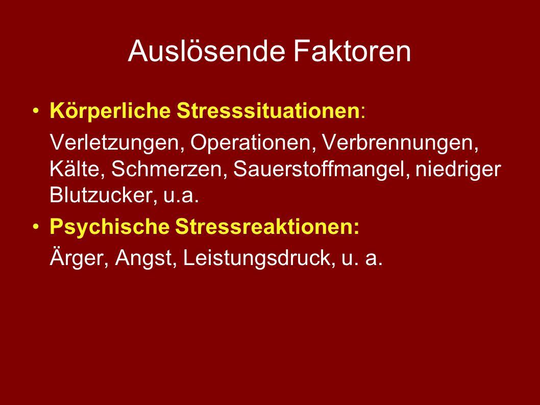 Bei langfristigem Stress negative Folgen, wie z.B.: Schlafstörungen, Spannungskopfschmerz Infektanfälligkeit Hypertonie etc.