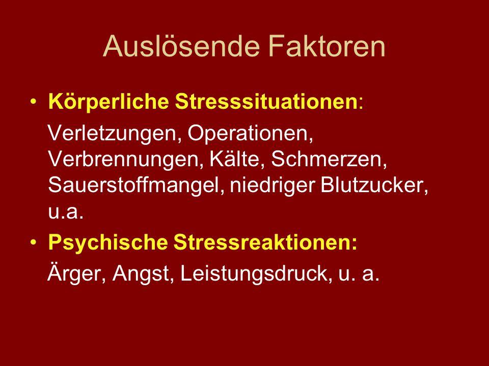 Stress kann wirken im 1) physiologischen System (Organismus) 2) psychologischen System (Individuum) 3) sozialen System (Familie, Gruppe)