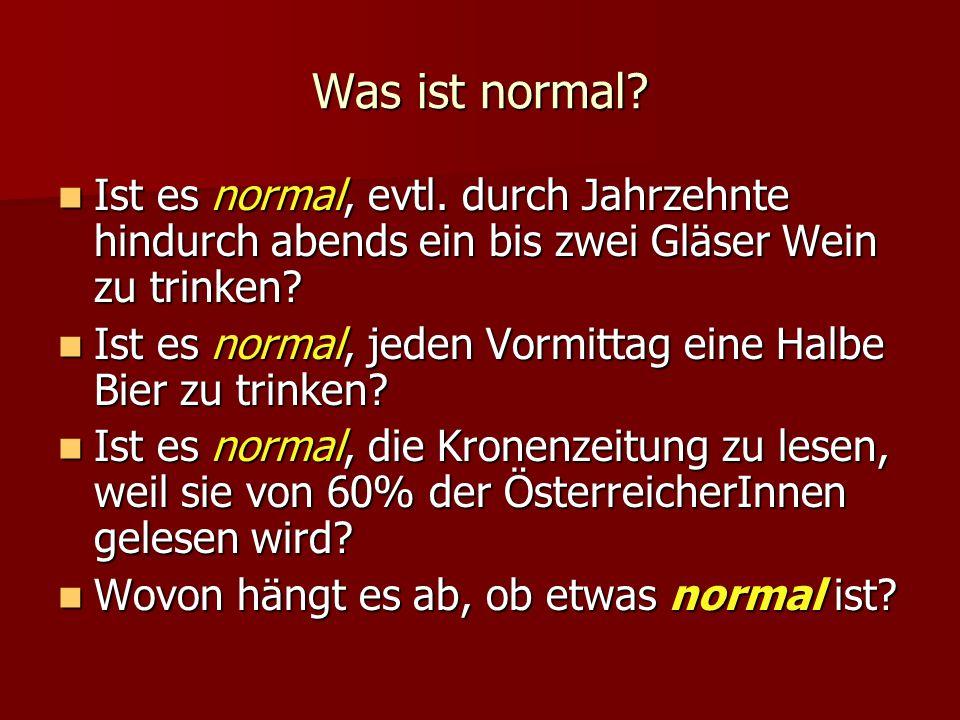 Was ist normal. Ist es normal, evtl.