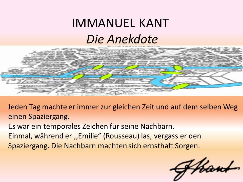 IMMANUEL KANT QUELLE 1.http://de.wikipedia.org/wiki /Immanuel_Kant 2. Wörterbuch: Landscheidt.