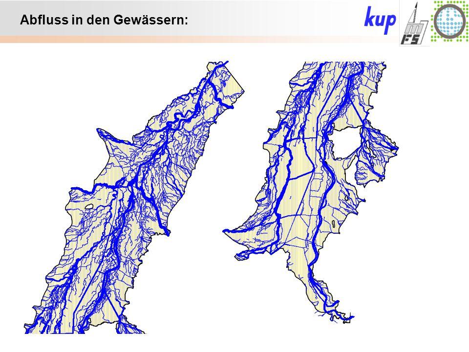 Untersuchungsgebiet: Abfluss in den Gewässern: