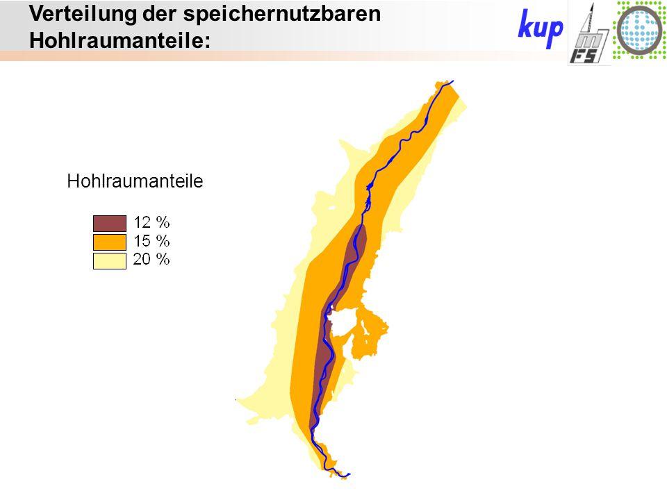 Untersuchungsgebiet: Verteilung der speichernutzbaren Hohlraumanteile: Hohlraumanteile