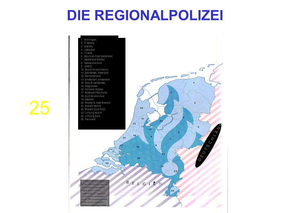 1 Groningen 2 Friesland 3 Drenthe 4 IJsselland 5 Twente 6 Noord en Oost Gelderland 7 Gelderland Midden 8 Gelderland Zuid 9 Utrecht 10 Noord Holland No