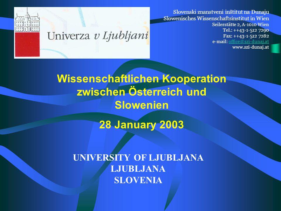 Wissenschaftlichen Kooperation zwischen Österreich und Slowenien 28.